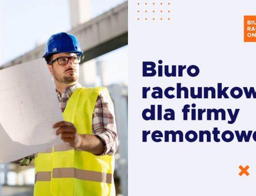 Biuro rachunkowe dla firmy remontowej